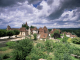 The Village Amidst the Verdant Surroundings of the Dordogne Valley  Midi-Pyrenees  France