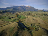 Aerial View from a Balloon of Countryside Around Queenstown  New Zealand  Pacific