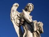 One of Gian Lorenzo Bernini's 17th Century Stone Angels on Ponte Sant'Angelo  Rome  Lazio  Italy