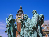 The Burghers of Calais  Statue by Rodin  in Front of the Town Hall  Picardie (Picardy)  France