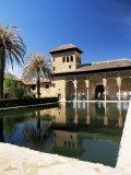 Palacio Del Partal Reflected in Pool  Alhambra  Unesco World Heritage Site  Andalucia  Spain