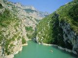 Small Boats in the River  Grand Canyon Du Verdon  Alpes-De-Haute Provence  Provence  France