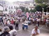Ice Cream Vendor in Middle of Crowds During Easter Celebratioans  Taxco  Mexico  North America