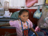 Little Girl  Milagro  Shows off Her Dimples  on Border with Honduras  Nicaragua  Central America