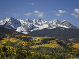 Sneffels Range with Fall Colors  Near Ouray  Colorado  United States of America  North America