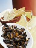 A Plate of Mussels  Glasgow  Scotland  United Kingdom  Europe