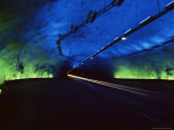 Laerdalstunnelen  the World's Longest Road Tunnel at 245 KM  Aurland  Norway  Scandinavia  Europe