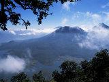 View of Lake and Town of Santiago  Lago Atitlan (Lake Atitlan)  Guatemala  Central America
