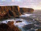 Eshaness Cliffs and Lighthouse  Shetland Islands  Scotland  United Kingdom  Europe