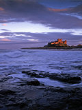 Bamburgh Castle at Dusk  Northumberland  England