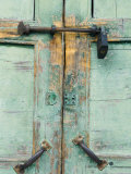 Close-up of Locked Door  Yangshuo  Guangxi Province  China  Asia