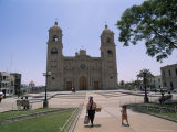 Cathedral in Tacna  Near the Border with Chile  Peru  South America