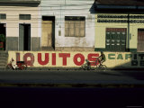 Bicycle Cruises Past Homes  Iquitos  Peru  South America