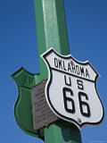 Route 66 Sign  Chandler City  Oklahoma  United States of America  North America