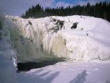 Tannfors  a 32M High  60M Wide Frozen Waterfall  Near Are  Jamtland  Sweden  Scandinavia  Europe