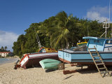 Fishing Boats  Port St Charles  Speightstown  Barbados  West Indies  Caribbean  Central America
