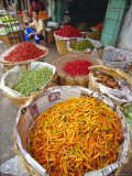 Chilies and Other Vegetables  Chinatown Market  Bangkok  Thailand  Asia