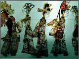 Traditional Shadow Puppets Cut from Leather in Muslim Quarter  Xi'an  China