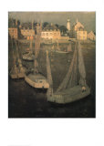 Breton Port At Moonlight