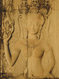 Relief Carving on the Temple at Angkor Wat  Angkor  Siem Reap  Cambodia  Indochina  Asia