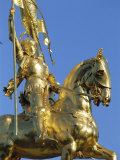 Equestrian Statue of Joan of Arc  French Quarter  New Orleans  Louisiana  USA