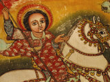Mural Painting in the Church of Narga Selassie Dek Island on Lake Tana  Ethiopia  Africa