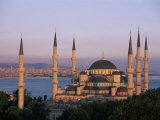 Dome and Minarets of the Blue Mosque (Sultan Ahmat Mosque)  Istanbul  Turkey