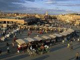 Market  Jemaa El-Fna  Marakech  Morocco