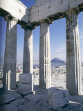 City from the Parthenon  Athens  Greece  Europe