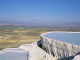 Terraces  Pamukkale  Unesco World Heritage Site  Egee Region  Anatolia  Turkey  Asia Minor  Asia