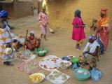 Bambara Women in the Market  Segoukoro  Segou  Mali  Africa