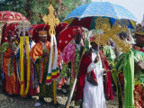 Procession During the Festival of Rameaux  Axoum  Ethiopia  Africa