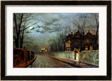 Old English House  Moonlight After Rain  1883