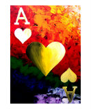 Colorful Ace Of Hearts
