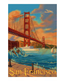 Golden Gate Bridge San Francisco Travel Poster