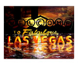 Abstract Las Vegas Sign