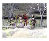 Three Snowmen in the Night