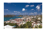 Aerial View of Charlotte Amalie St Thomas USVI