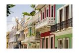 Balconies of Calle Del Cristo San Juan