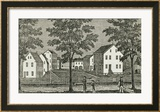 Shaker Houses in Enfield  from &quot;Connecticut Historical Collections &quot; by John Warner Barber  1856