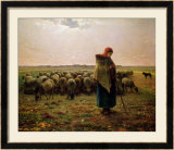 Shepherdess with Her Flock  1863