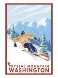 Downhhill Snow Skier  Crystal Mountain  Washington