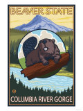 Beaver & Mt Hood  Columbia River Gorge  OR