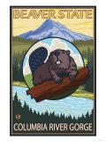 Beaver & Mt Hood  Columbia River Gorge  OR