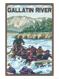 White Water Rafting  Gallatin River  Montana