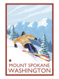 Downhhill Snow Skier  Mount Spokane  Washington