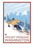 Downhhill Snow Skier  Mount Spokane  Washington