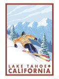 Downhhill Snow Skier  Lake Tahoe  California