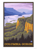 Columbia River Gorge Scene with Crown Point