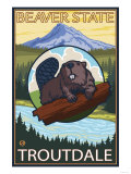 Beaver &amp; Mt Hood  Troutdale  Oregon